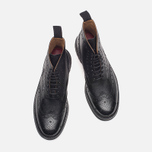Мужские ботинки Grenson Fred Commando Sole Brogue Derby Boot Alpine Grain Black фото- 4