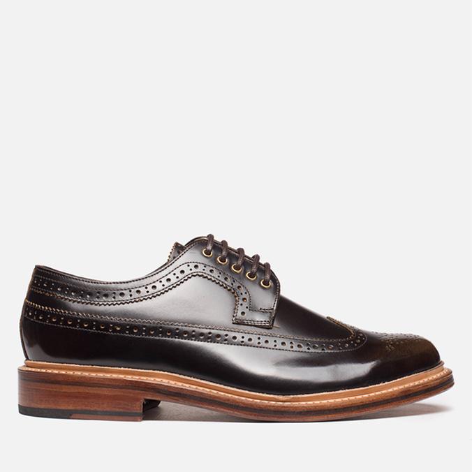 Мужские ботинки Grenson Sid Long Wing Brogue Brown