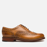 Grenson Stanley Brogue Men's Shoes Tan photo- 0