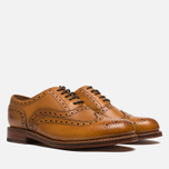 Grenson Stanley Brogue Men's Shoes Tan photo- 1