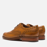 Grenson Stanley Brogue Men's Shoes Tan photo- 2