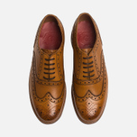 Grenson Stanley Brogue Men's Shoes Tan photo- 4
