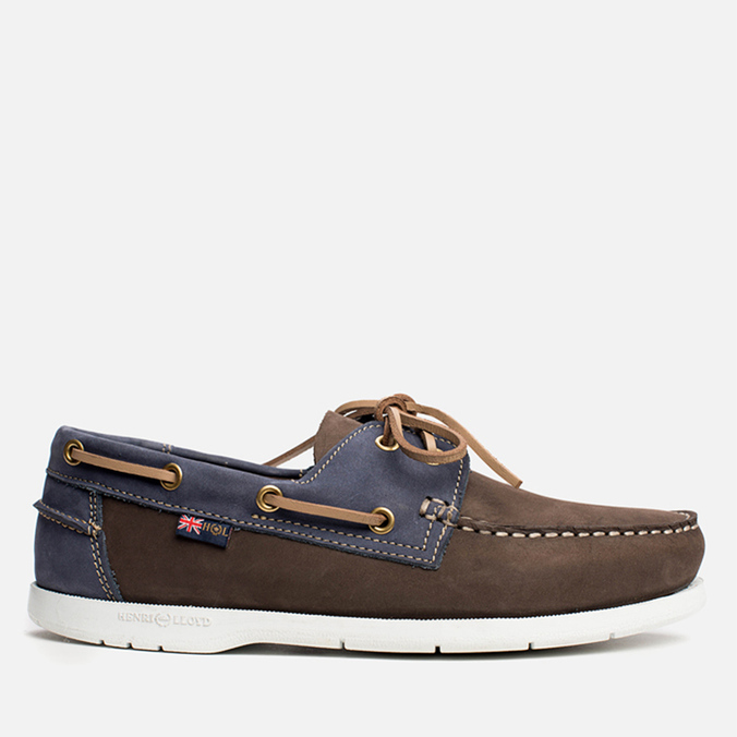 ebbc90884f363 Мужские ботинки Henri Lloyd Arkansa Boat Shoe Dark Brown Dark Navy ...