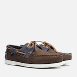 Мужские ботинки Henri Lloyd Arkansa Boat Shoe Dark Brown/Dark Navy фото- 1