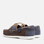 Мужские ботинки Henri Lloyd Arkansa Boat Shoe Dark Brown/Dark Navy фото- 2