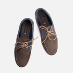 Мужские ботинки Henri Lloyd Arkansa Boat Shoe Dark Brown/Dark Navy фото- 4