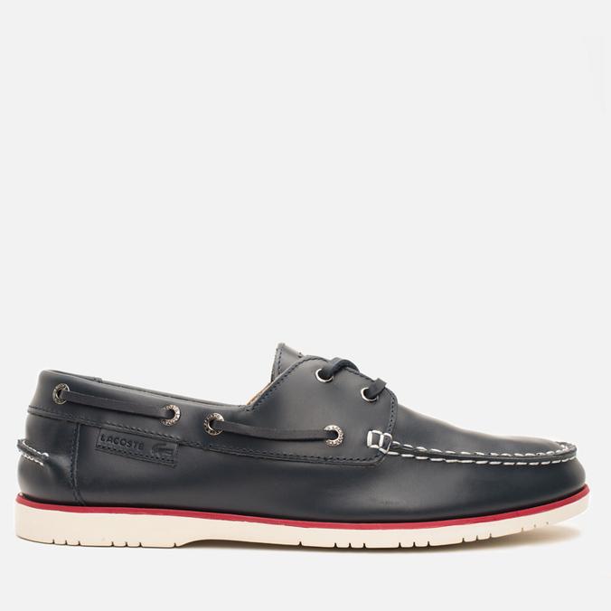 Lacoste Corbon 8 SRM Leather Men's Shoes Dark Blue