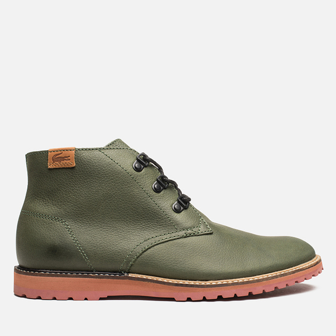 Lacoste Sherbrooke Outdoor Hi SRM Shoes Dark Green