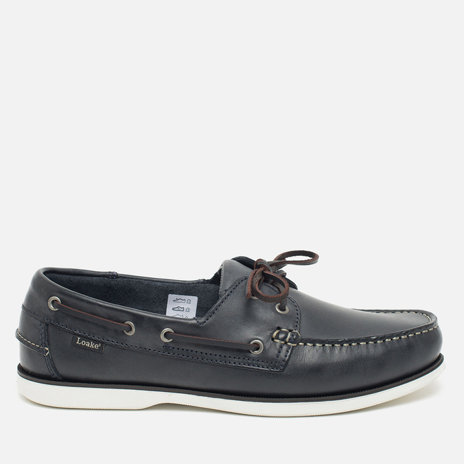 Loake Waxy Boat Men's Shoes Blue