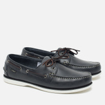 Loake Waxy Boat Men's Shoes Blue photo- 1