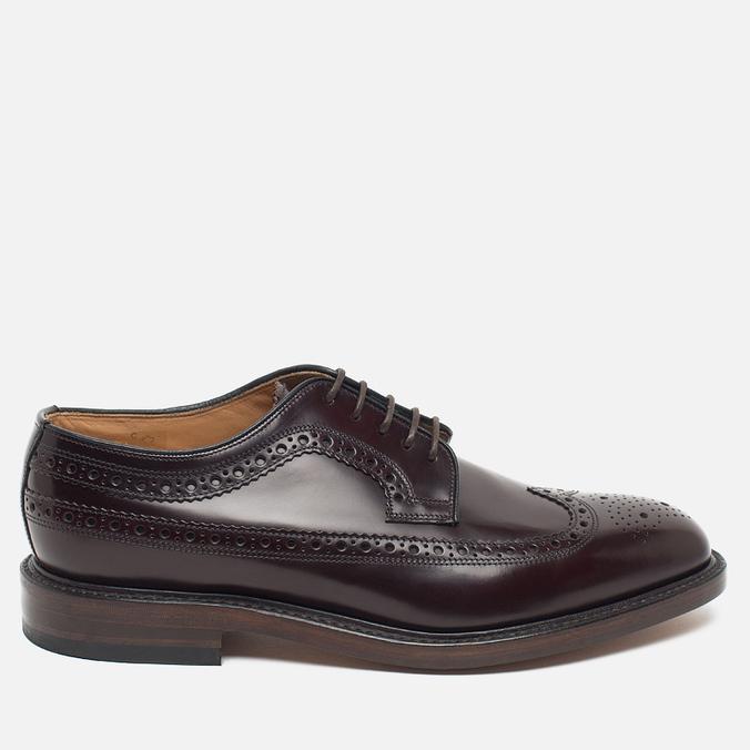 Мужские ботинки броги Loake Royal Polished Oxblood