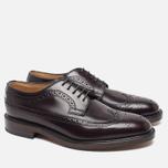 Мужские ботинки броги Loake Royal Polished Oxblood фото- 1