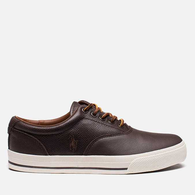 Мужские кеды Polo Ralph Lauren Vaughn Saddle Dark Brown
