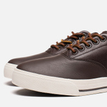 Мужские кеды Polo Ralph Lauren Vaughn Saddle Dark Brown фото- 5