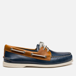 Sperry Top-Sider A/O 2-Eye Shoes Dark Blue/Tan  photo- 0