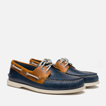 Sperry Top-Sider A/O 2-Eye Shoes Dark Blue/Tan  photo- 1