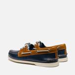 Sperry Top-Sider A/O 2-Eye Shoes Dark Blue/Tan  photo- 2