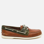 Sperry Top-Sider A/O 2-Eye Men's Shoes Dark Tan/Olive photo- 0