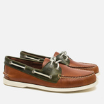 Sperry Top-Sider A/O 2-Eye Men's Shoes Dark Tan/Olive photo- 1