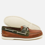 Sperry Top-Sider A/O 2-Eye Men's Shoes Dark Tan/Olive photo- 2