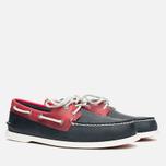 Мужские ботинки Sperry Top-Sider A/O 2-Eye Seaglass Navy/Red фото- 1