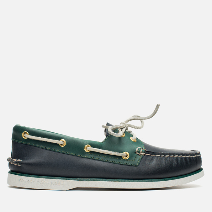 Мужские ботинки Sperry Top-Sider Gold Cup A/O 2-Eye Blue/Green