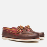 Мужские ботинки Sperry Top-Sider Gold Cup A/O 2-Eye Brown/Red фото- 1