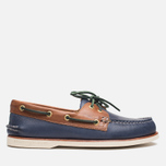 Sperry Top-Sider Gold Cup A/O 2-Eye Shoes Navy/Tan  photo- 0