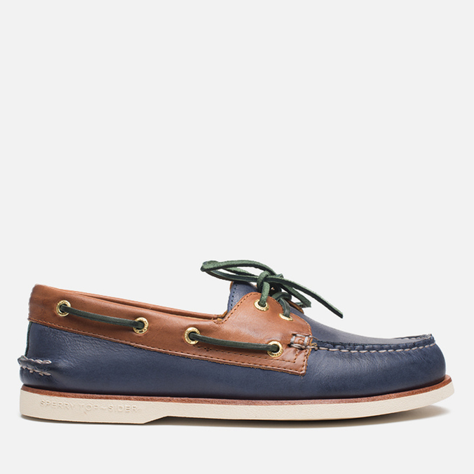 Sperry Top-Sider Gold Cup A/O 2-Eye Shoes Navy/Tan