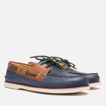 Sperry Top-Sider Gold Cup A/O 2-Eye Shoes Navy/Tan  photo- 1