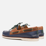 Sperry Top-Sider Gold Cup A/O 2-Eye Shoes Navy/Tan  photo- 2