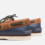 Sperry Top-Sider Gold Cup A/O 2-Eye Shoes Navy/Tan  photo- 6