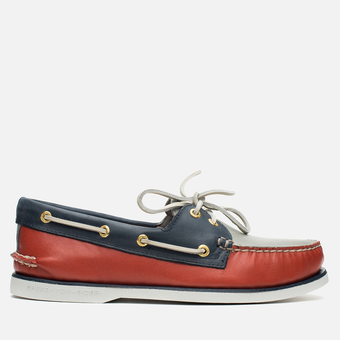 Мужские ботинки Sperry Top-Sider Gold Cup A/O 2-Eye Red/Navy/Grey