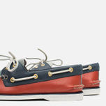 Sperry Top-Sider Gold Cup A/O 2-Eye Men's Shoes Red/Navy/Grey photo- 5