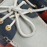 Sperry Top-Sider Gold Cup A/O 2-Eye Men's Shoes Red/Navy/Grey photo- 7