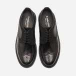 Мужские ботинки Loake x Brandshop Polished Suede Royal Brogue Black фото- 4