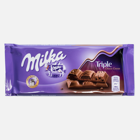 Шоколад Milka Triple Cocao 100g