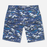 Barbour x White Mountaineering Wave Men`s Shorts Blue photo- 0