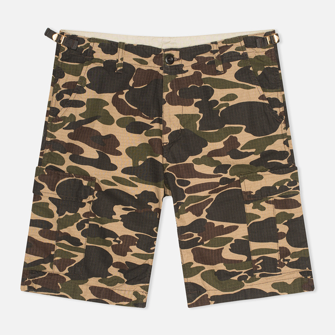Мужские шорты Carhartt WIP Aviation Columbia Ripstop Camo Isle Rinsed