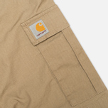 Мужские шорты Carhartt WIP Aviation Columbia Ripstop Leather Rinsed фото- 2