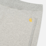 Мужские шорты Carhartt WIP Chase Sweat Grey Heather фото- 2