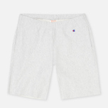 Champion Reverse Weave Patch Logo Sweat Men`s Shorts Oxford Grey photo- 0