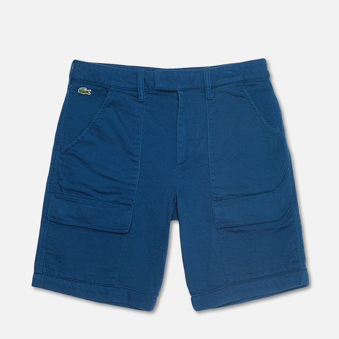 Мужские шорты Lacoste Double Face Cotton Bermuda Philippines Blue