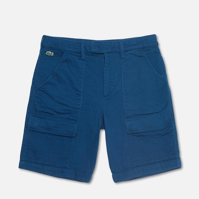 Lacoste Double Face Cotton Bermuda Men`s Shorts Philippines Blue