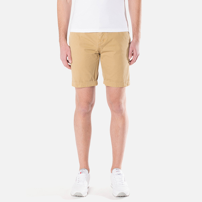 Мужские шорты Lacoste Live Cotton Twill Plain Front Bermuda Latte Beige
