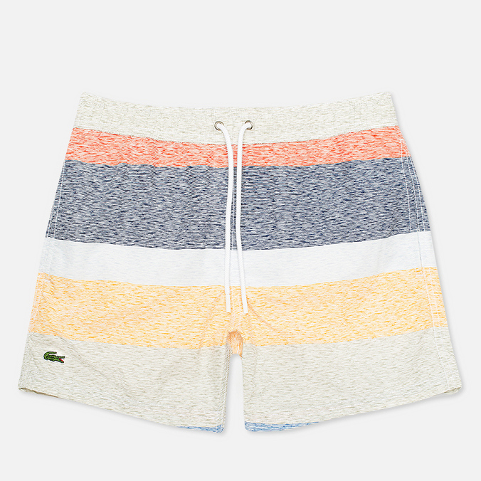 Lacoste Swim Block Stripes Men`s Shorts Multicolor