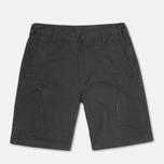 Maharishi Tour Cargo Canvas Cotton Men`s Shorts Black photo- 0