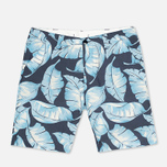 Nanamica Wind Print Men`s Shorts Blue Leaf photo- 0