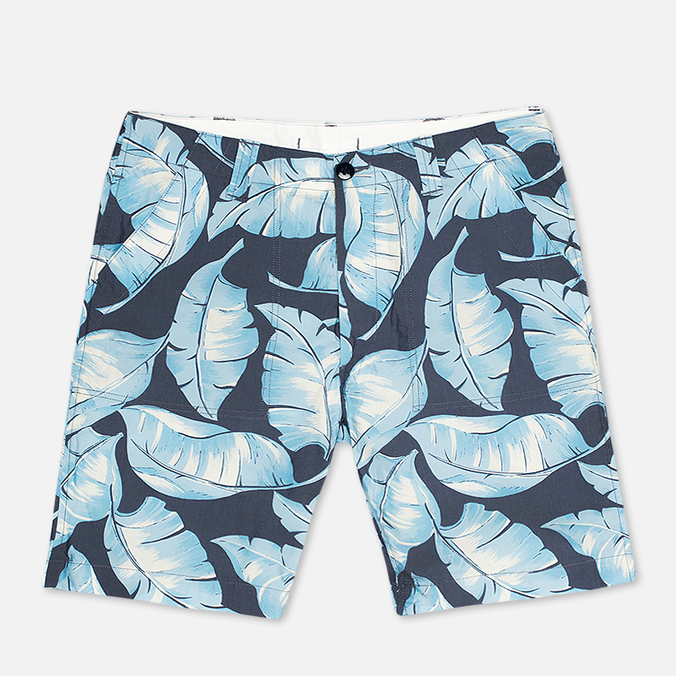 Nanamica Wind Print Men`s Shorts Blue Leaf