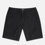 Мужские шорты Stussy Duke Solid Black фото- 0